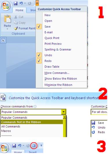 full screen msword2007