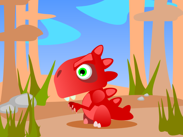 red dino