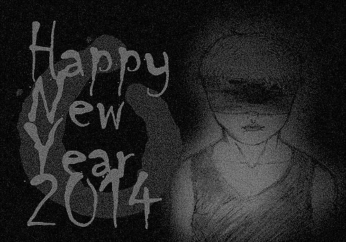 happy new year 2014 dark 2